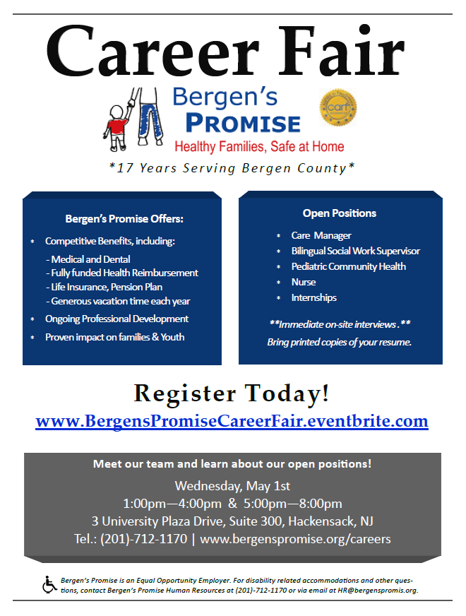Featured Image for Bergen's Promise invites job seekers to register for Career Fair on May 1st