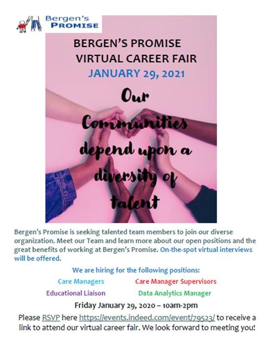 Featured Image for Come Join Us for Our Virtual Career Fair on January 29th