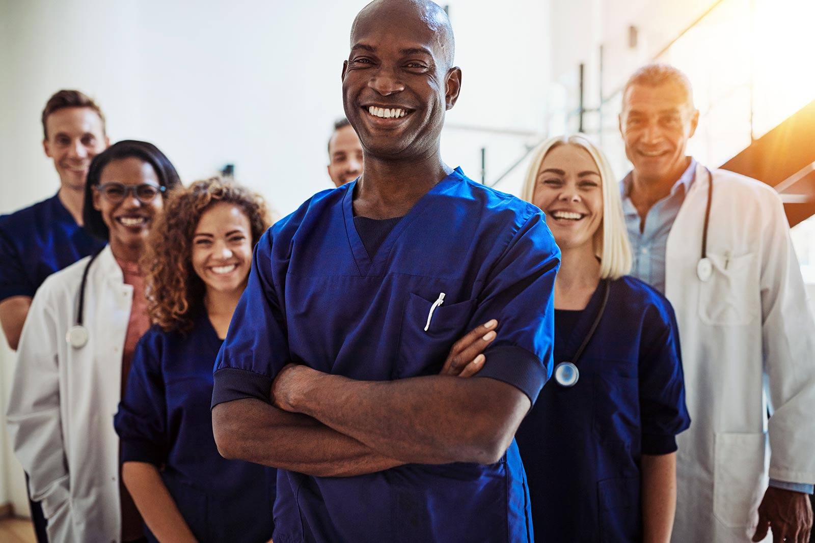 a diverse group of healthcare professionals